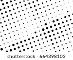 abstract halftone dotted... | Shutterstock .eps vector #664398103