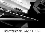 abstract white interior of the... | Shutterstock . vector #664411183