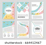abstract vector layout... | Shutterstock .eps vector #664412467
