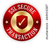 gold ssl secure transaction... | Shutterstock .eps vector #664414387