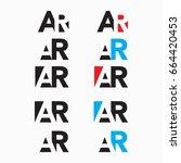 ar logo letter for  | Shutterstock .eps vector #664420453