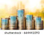growing money finance concept... | Shutterstock . vector #664441093