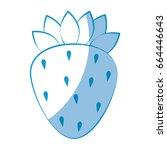 strawberry fruit icon | Shutterstock .eps vector #664446643