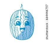 watermelon fruit icon | Shutterstock .eps vector #664446757