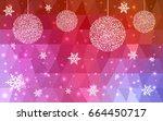 light blue red vector christmas ... | Shutterstock .eps vector #664450717