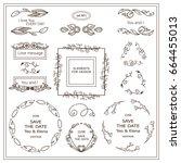 vector vintage sign  symbols... | Shutterstock .eps vector #664455013