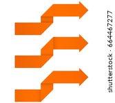 orange arrows. origami folded...