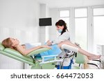 young woman lying in... | Shutterstock . vector #664472053