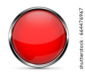 red round glass button with... | Shutterstock . vector #664476967