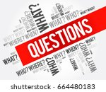 questions whose answers are... | Shutterstock .eps vector #664480183