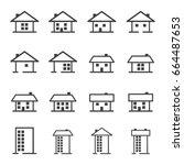 house   home   real estate... | Shutterstock .eps vector #664487653