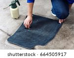 details of automobile cleaning  ... | Shutterstock . vector #664505917