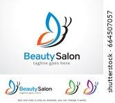 beauty salon logo template... | Shutterstock .eps vector #664507057