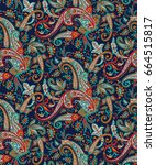 seamless pattern based on... | Shutterstock .eps vector #664515817