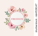 illustration of freedom and... | Shutterstock . vector #664528147