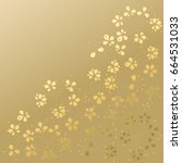 floral background. gold flowers ... | Shutterstock .eps vector #664531033