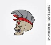 skull vector | Shutterstock .eps vector #664532587