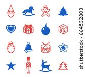 digital vector red blue happy... | Shutterstock .eps vector #664532803