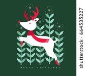 reindeer vector illustrations... | Shutterstock .eps vector #664535227