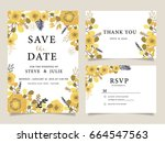 wedding invitation card... | Shutterstock .eps vector #664547563