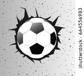 football or soccer ball with... | Shutterstock .eps vector #664556983
