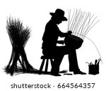 editable vector silhouette of a ... | Shutterstock .eps vector #664564357