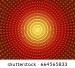 ldoted red color burst...   Shutterstock . vector #664565833