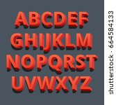 3d font. three dimensional... | Shutterstock .eps vector #664584133
