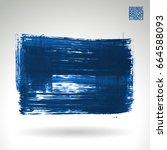 blue brush stroke and texture.... | Shutterstock .eps vector #664588093