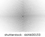 abstract halftone dotted... | Shutterstock .eps vector #664600153