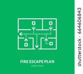 Fire Escape Plan Flat Line Sig...