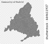 high quality map of community... | Shutterstock .eps vector #664611937