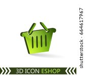 3d icon eshop isolated on white ... | Shutterstock .eps vector #664617967