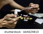 international day against drug... | Shutterstock . vector #664624813