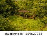 Footbridge Over A Small Stream...