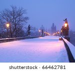 Charles Bridge In Winter ...