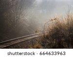 rail track on sunny morning | Shutterstock . vector #664633963