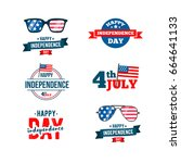 independence day 4th of july... | Shutterstock .eps vector #664641133