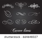 typographic elements. curve... | Shutterstock .eps vector #664648327