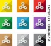 fidget spinner icons | Shutterstock .eps vector #664651063