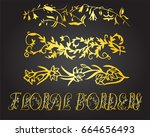 floral borders and design... | Shutterstock .eps vector #664656493
