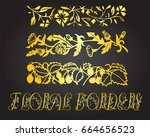 floral borders and design... | Shutterstock .eps vector #664656523