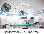 equipment and medical devices... | Shutterstock . vector #664658953