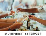 toast at the wedding | Shutterstock . vector #664659397
