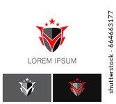 shield star protection logo | Shutterstock .eps vector #664663177