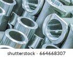 metal industry  a factory in... | Shutterstock . vector #664668307