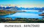 lake tekapo from the air | Shutterstock . vector #664670683
