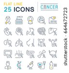 set line icons  sign and... | Shutterstock . vector #664672723