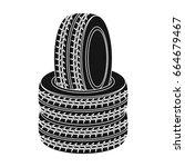 barricade of tires.paintball... | Shutterstock .eps vector #664679467