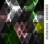 vector abstract regular polygon ... | Shutterstock .eps vector #664681813